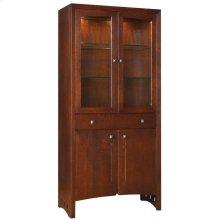 Oak Mirrored Back, Oak Highlands Display Cabinet