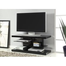 Contemporary Glossy Black TV Console