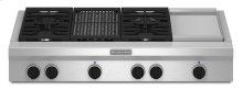 48-Inch 4 Burner Gas Rangetop, Commercial-Style - Stainless Steel