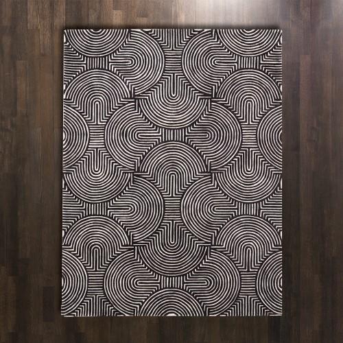 Arches Rug-Black/Ivory-6 x 9