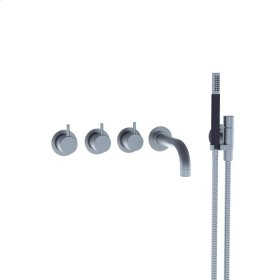 Two-handle build-in mixer with 1/4 turn ceramic disc technology and diverter - Brushed chrome