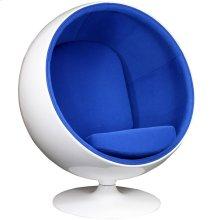 Kaddur Fiberglass Lounge Chair in Blue