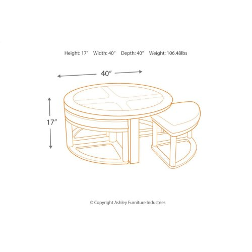 Marion Cocktail TBL w/4 Stools (5/CN)