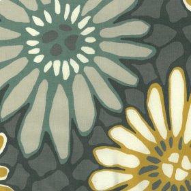 Tactile Flora Charcoal Fabric