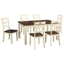 Woodanville Rectangular Dining Room Set: 7 Piece Table