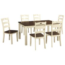 Woodanville Rectangular Dining Room Set: 7 Piece Table