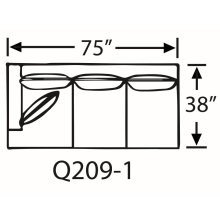 Sectional Component-One Arm Queen Sleeper