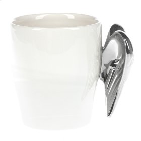Angel Wing-Handle Mug. 12 oz.