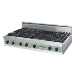 "Sage 48"" Open Burner Rangetop - VGRT (48"" wide, six burners 12"" wide char-grill)"
