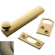 Satin Brass and Black General Purpose Surface Bolt