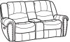 New Town Fabric Gliding Reclining Loveseat with Console