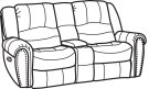 New Town Fabric Gliding Reclining Loveseat with Console Product Image
