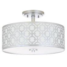 Vera 3 Light 15.5-INCH Dia Silver Flush Mount - Silver