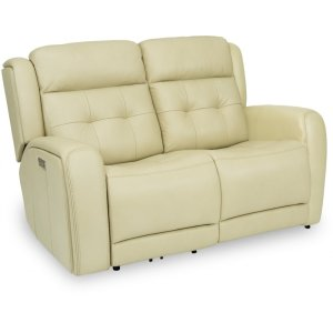 FlexsteelGrant Power Reclining Loveseat with Power Headrests
