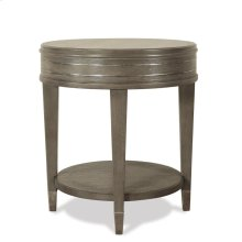 Dara Two - Round Side Table - Gray Wash Finish