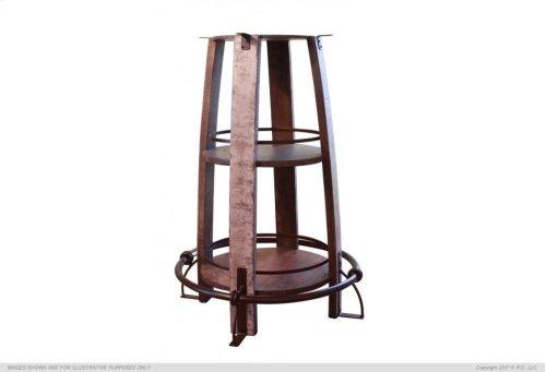 "34-40"" Adjustable Height Iron Bistro Table Base"