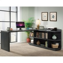Perspectives - Peninsula Bookcase - Ebonized Acacia Finish