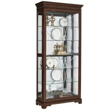 Harley Diamond Etched Sliding Door Curio