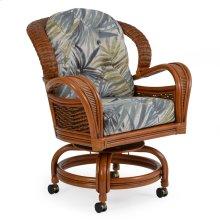 Rattan Swivel Tilt Caster Dining Chair 3560