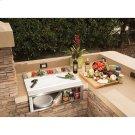 "30"" PIZZA PREP & GARNISH RAIL W/ FOOD PANS Product Image"