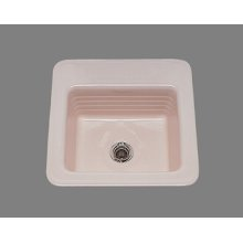 Gloria - Bar Sink - Linial Design Pattern - High Fire Vitreous China - Almond