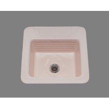 Gloria - Bar Sink - Linial Design Pattern - High Fire Vitreous China - Almond