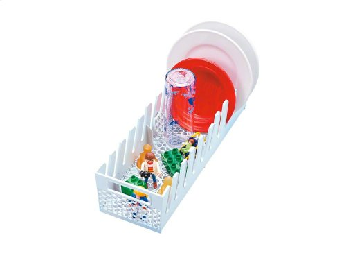 GMFO Multi-purpose dishwasher basket with separate areas for baby bottles and small items.