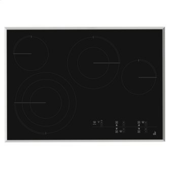 "Lustre Stainless 30"" Electric Radiant Cooktop with Glass-Touch Electronic Controls"