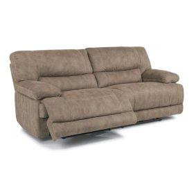 Delia Fabric Power Reclining Sofa