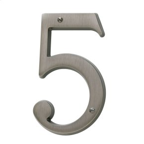 Antique Nickel House Number - 5
