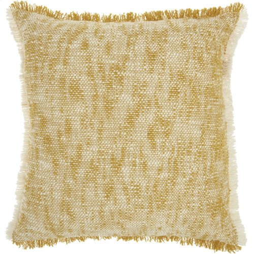 "Life Styles Sh020 Mustard 20"" X 20"" Throw Pillows"