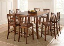7 PIECE SET (PUB TABLE AND 6 BARSTOOLS)