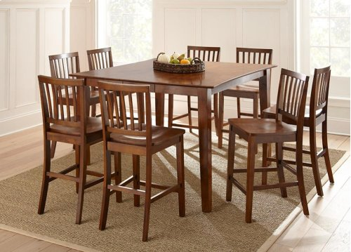 "Branson Counter Table, Espresso 54""x42""x54"" w/ 12"" Leaf"