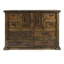 Caledonia Front Drawer Reclaimed Pine Wood Copper Chest
