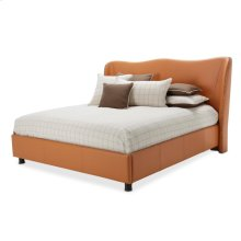 Eastern King Upholstered Wing Bed (3 Pc)