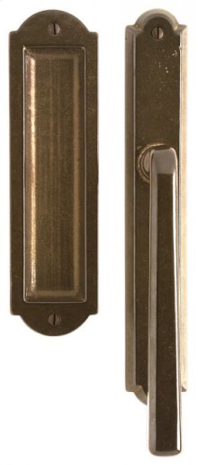 "Arched Lift & Slide Door Set - 1 3/4"" x 11"" Silicon Bronze Brushed"