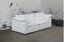 Sunset Trading Cloud Puff Slipcovered 2 Piece Modular Sectional Sofa - 391081