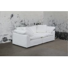 Sunset Trading Cloud Puff Slipcovered 2 Piece Modular Sectional Sofa - 391081