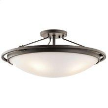 4 Light Semi-Flush Ceiling Light in Olde Bronze