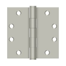 "4 1/2"" x 4 1/2"" Square Hinges, HD - Brushed Nickel"