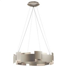 "Moderne 26.5"" LED Chandelier Satin Nickel"