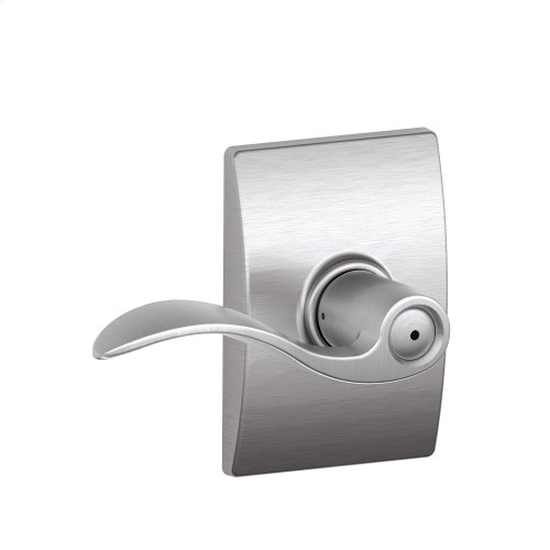 Accent Lever with Century trim Bed & Bath Lock - Satin Chrome