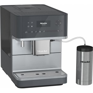 CM 6350 Countertop coffee machine with OneTouch for Two feature and integrated cup warmer for perfect coffee. - GRAPHITE GREY