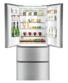 15 Cu. Ft. Frost Free French Door Refrigerator with Bottom Freezer