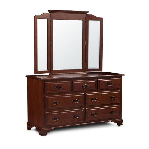 Crown Tri-View Dresser Mirror, Medium