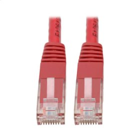 Premium Cat5/5e/6 Gigabit Molded Patch Cable, 24 AWG, 550 MHz/1 Gbps (RJ45 M/M), Red, 3 ft.