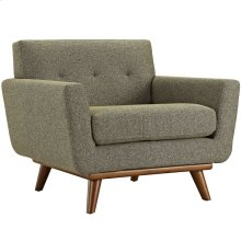 Engage Upholstered Fabric Armchair in Oatmeal