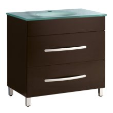 Single 35.5 in. W Black Finish Vanity