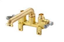 Rough Brass Gerber® Classics Two Handle Treaded Legs Laundry Faucet