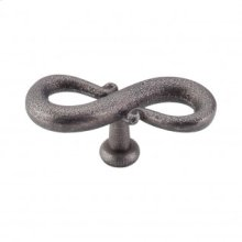 S-Shaped Knob 3 1/4 Inch - Pewter